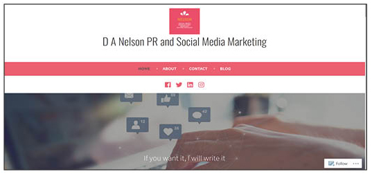 D A Nelson PR and Social Media
